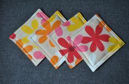 Wesołe podkładki pod kubki -kolorowe kwiaty 4szt