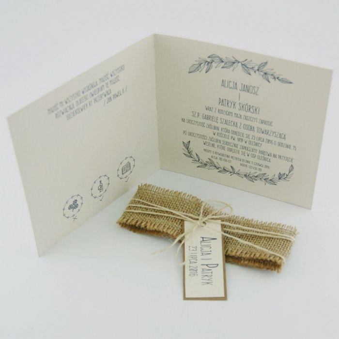 Zaproszenia Ślubne Natural Brilliant White