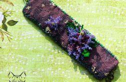 Wrzosowisko - bransoletka z koralików