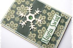 Kartka świąteczna ze śnieżynką