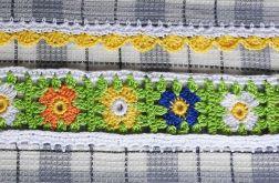 Ręczniki kuchenne z kwiatową koronką