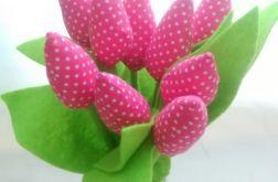 Tulipan 100% bawełna fuksja
