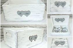 Zestaw ślubnych pudełek