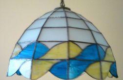 Lampa witrażowa wisząca - fale