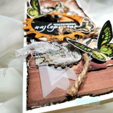 Kartka okolicznościowa do pudełka motyle trybiki dla każdego format DL