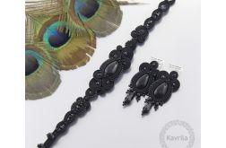 Komplet wieczorowy lacira black soutache