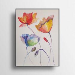 Kwiaty-akwarela A4