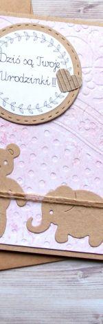 KARTKA NA URODZINKI :: różowo-fioletowa
