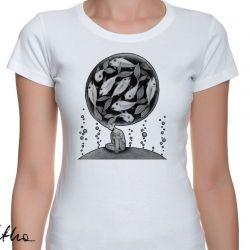 Ryby - t-shirt damski - różne kolory