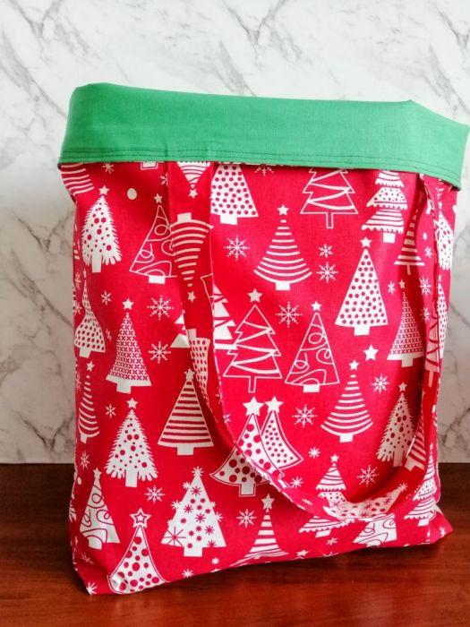 Eko,torba damska na zakupy,czerwona