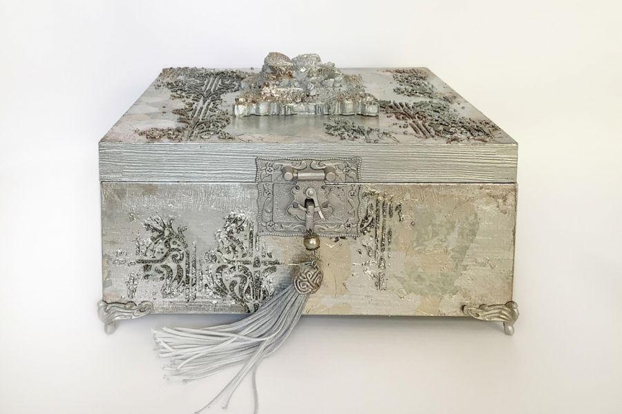 Szkatułka, pudełko vintage Fairy -