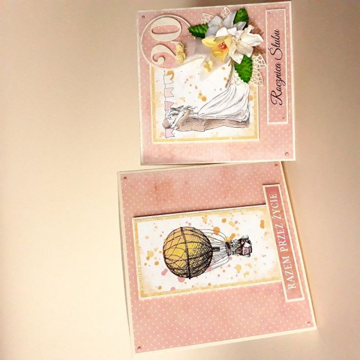 Rocznicowa kartka ślubna -