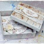 Kartka ślubna w pudełku - na zamówienie -