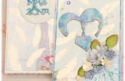 Komplet ślubny niebieski