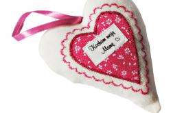Biało-różowe serce dla mamy