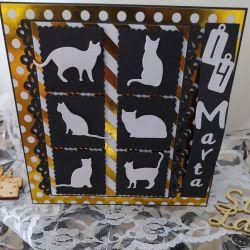 Kartka urodzinowa dla nastolatki fanki kotów