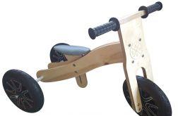 Rowerek biegowy drewniany 2w1 IMIĘ DZIECKA