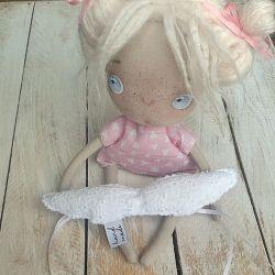 ANIOŁEK lalka tekstylna, cute angel 1, OOAK