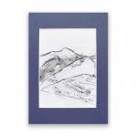 Szkic górski nr 6 -  czarno-biały rysunek