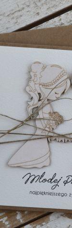 Rustykalna kartka ślubna 11ds