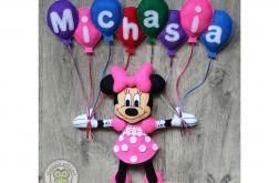 Myszka Minnie z imieniem dziecka 8 liter