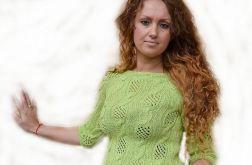 Pistacjowa ażurowa bluzeczka ;o))