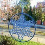 Zawieszka, dekoracja  szydełkowa gwiazdka