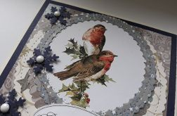 Kartka świąteczna 19 z ptaszkami