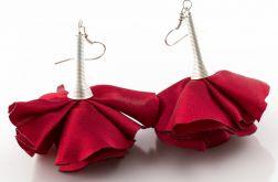 Kolczyki Silk czerwone kwiaty