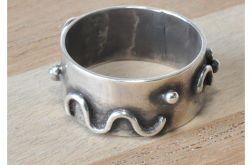 89 srebrna obrączka, obrączka vintage;