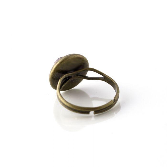 Pierścionek druzy antyczne złoto