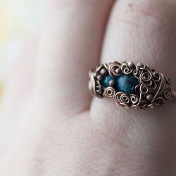 Erato - pierścień z chryzokolą