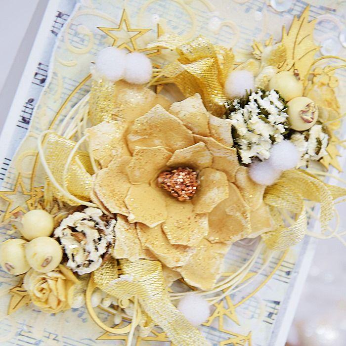 Bożonarodzeniowa w bieli i złocie