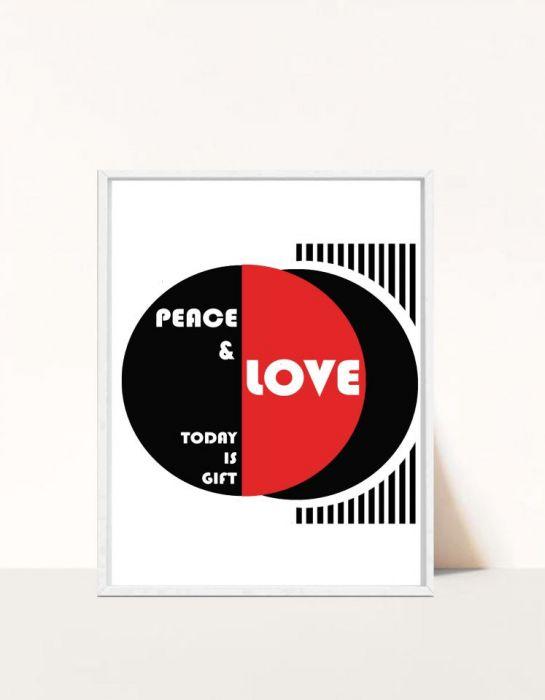 Plakat Peace&Love -