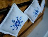 Lniane poduszeczki z haftem