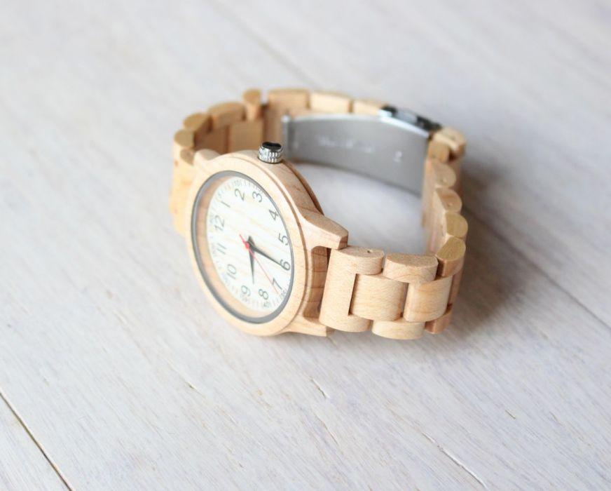 Damski drewniany zegarek FULL WOOD MAPLE