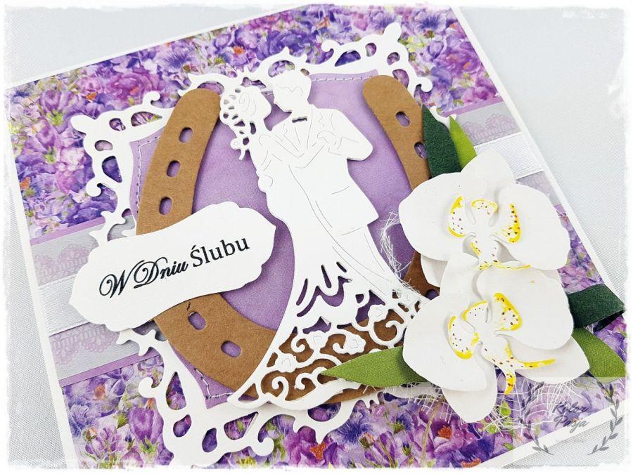 Kartka Ślubna ze storczykami 5
