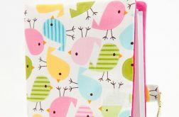 Okładka na książeczkę zdrowia - ptaszki