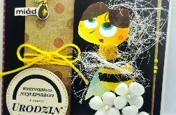 Kartka dla pszczelarza #3 pszczoły miód