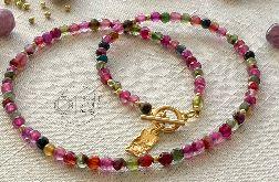 Naszyjnik kolorowe agaty Colored Stone