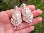Kolczyki  sutasz Ivory z perłami SEA SHELL