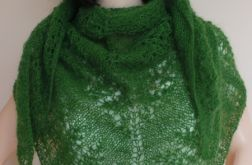 Zielona moherowa chusta