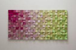"""Obraz drewniany 3D Mozaika drewniana """"PJ"""""""