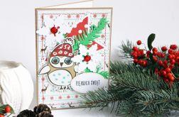 Sówka - kartka świąteczna