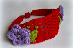Opaska - fioletowe kwiatki