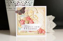 Dzień Matki - kartka z motylkiem