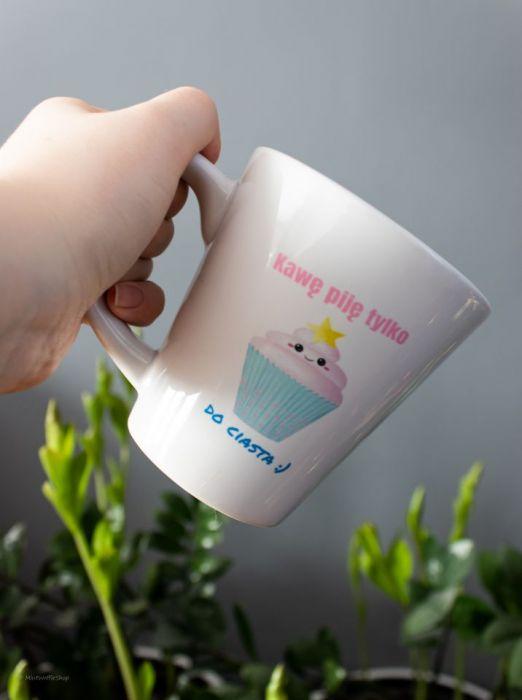 Kubek latte Kawa Ciasto - Kubek Latte