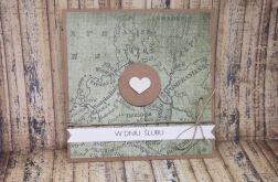 Kartka ślubna dla podróżników z mapą 5