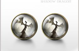 Shadow Dragon - antyczny brąz - kolczyki wkrętki