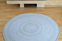 Dywan szary, duży, ze sznurka bawełnianego